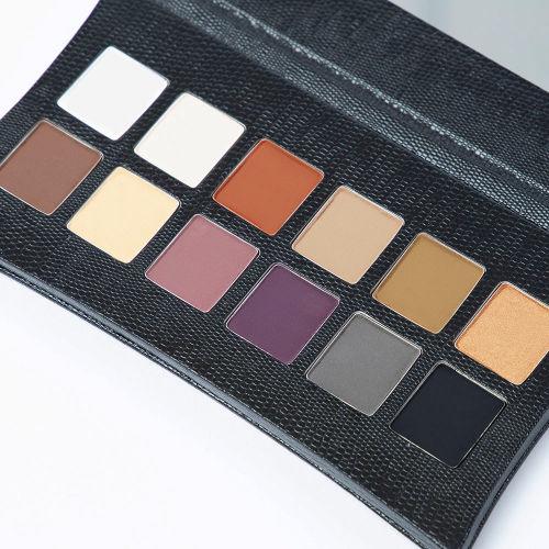 paletă de farduri de ochi 12 nuanțe mate netede, perfecte pentru smoky eyes - IllaMasqua The Elemental Palette