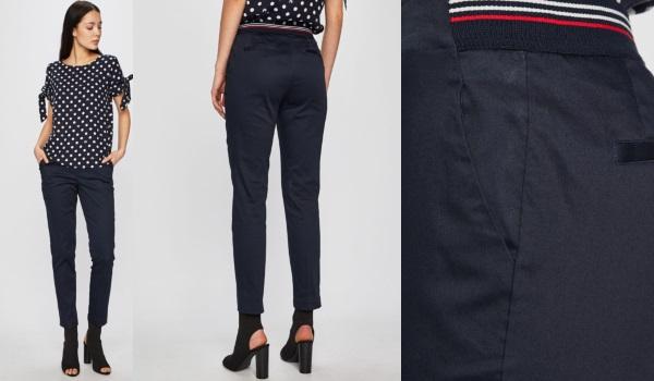 pantaloni office conici bleumarin din bumbac Medicine