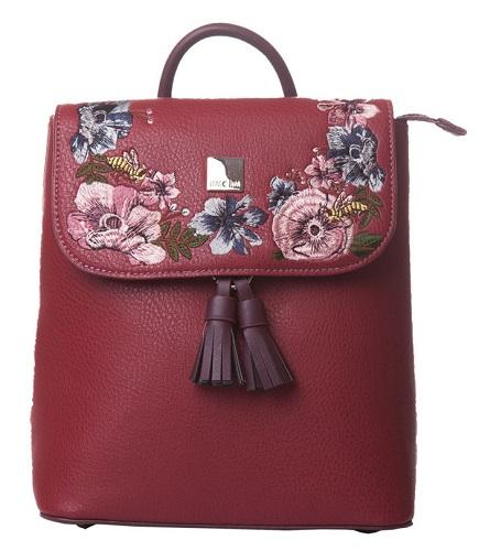 rucsac elegant tip geantă cu broderie florală romantică de la Lamonza