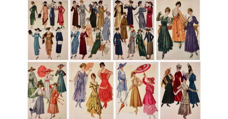 tendințe de modă în timpul Primului Război Mondial