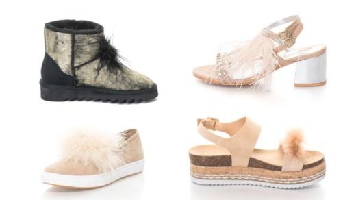 încălțăminte_cizme și sandale sau espadrile cu pene