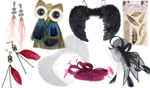 accesorii și bijuterii cu pene