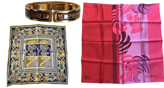 accesorii vintage eșarfe și bijuterii freywille