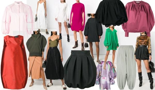 haine de designer și casă de modă în formă de balon