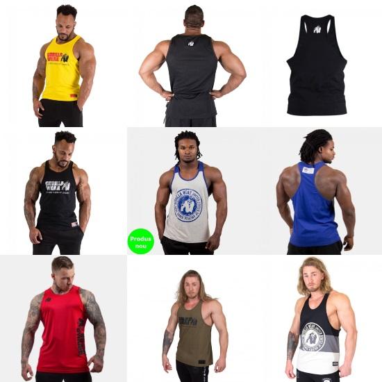 maiouri de fitness și sală de forță pentru bărbați_din materiale în care nu transpiri