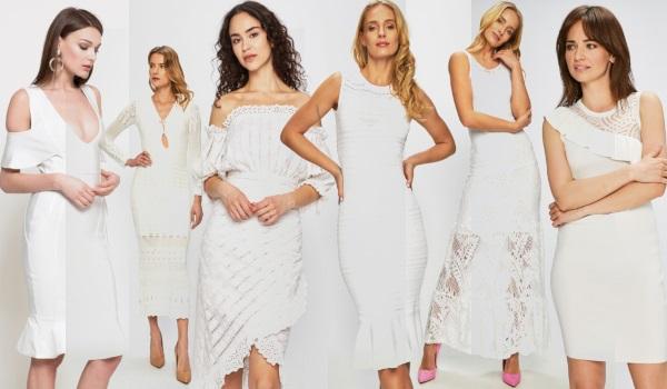 rochii albe de cocktail