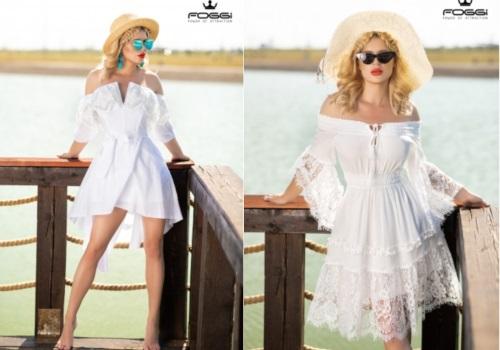 rochie albă de picnic sau petrecere în grădină grătar