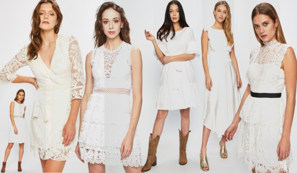 rochii albe de botez și baby shower