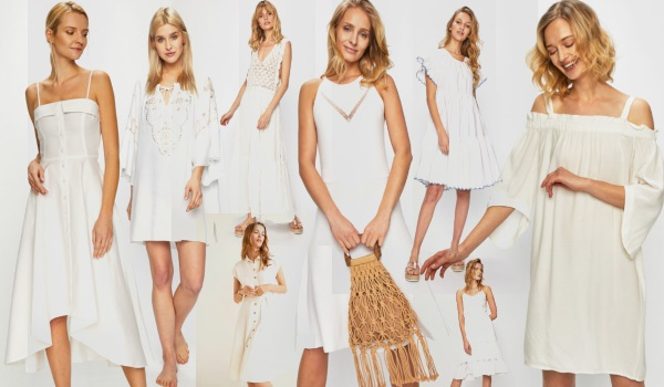 rochii albe de plajă și vacanța de vară