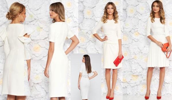 rochii albe de zi simple și versatile