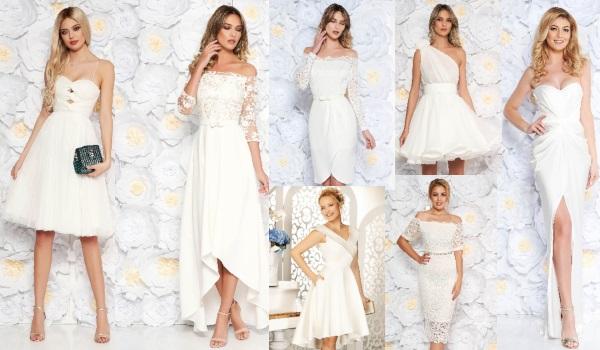 rochii albe pentru cununia civilă
