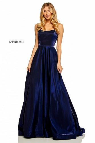 rochie de bal bleumarin pentru femeia Fecioară