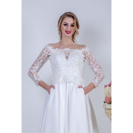 rochie de mireasă cu buzunare
