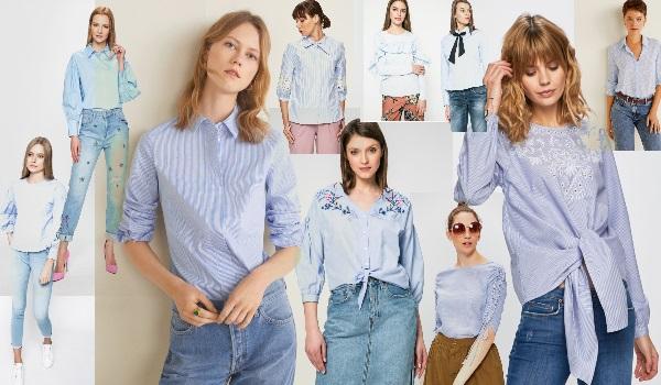 cămăși și bluze de culoare baby blue