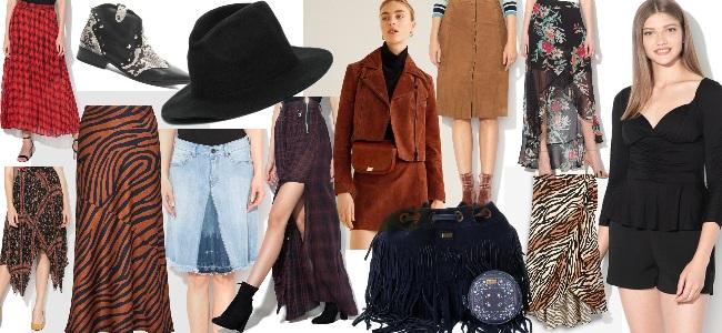 ținută stil western cowgirl elegantă cu fustă și jachetă din piele întoarsă