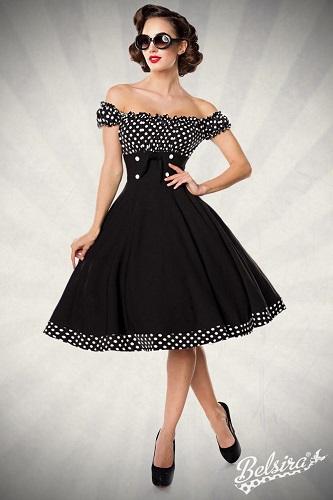 rochie retro cloș cu fustă amplă perfectă și la Halloween costumată în divă