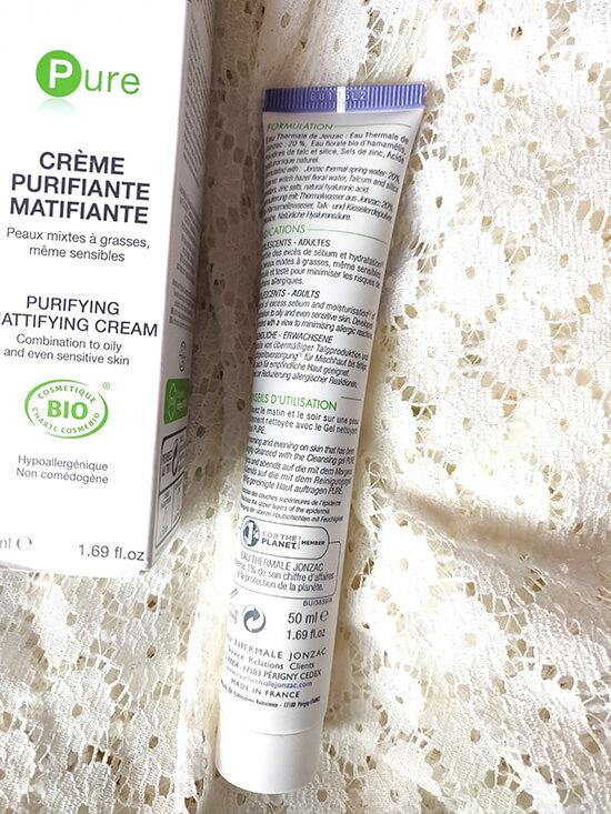 crema purifiantă matifiantă bio cu apă termală Jonzac_gama Pure_review cu poze după utilizare