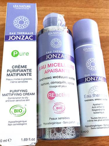 crema purifiantă matifiantă bio cu apă termală Jonzac_gama Pure_review cu foto