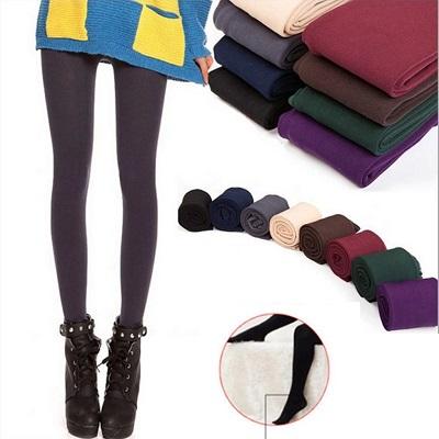 colanți colorați căptuși cu pluș