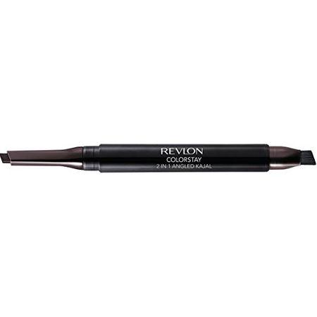 Creion de ochi automatic tip tuș eyeliner cu pensulă Revlon ColorStay 2-in-1 Angled Kajal