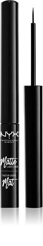 NYX Professional Makeup Matte Liquid tuș lichid pentru ochi, cu efect mat