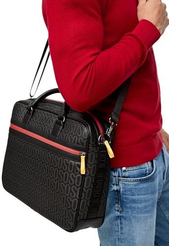 geantă laptop tip servietă messenger pentru bărbați s.oliver