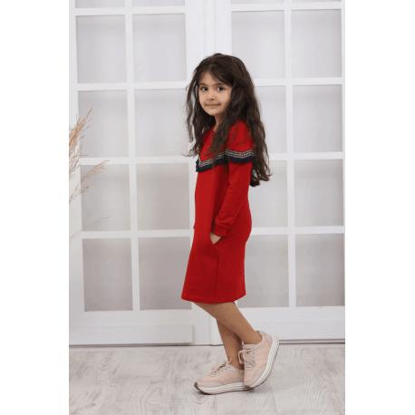 rochie-pulover-cu-buzunare pentru fetite