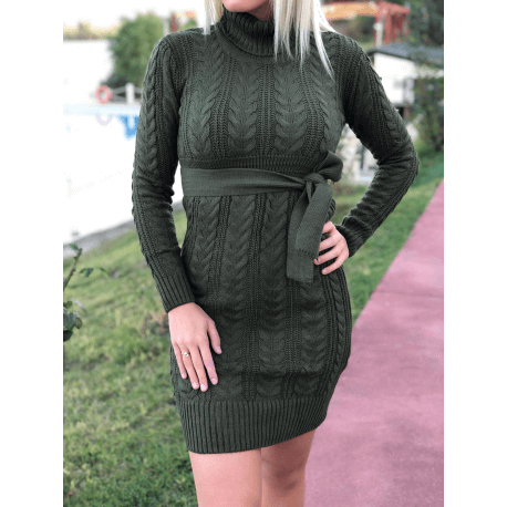 rochie-pulover-tricotata-cu-cordon-
