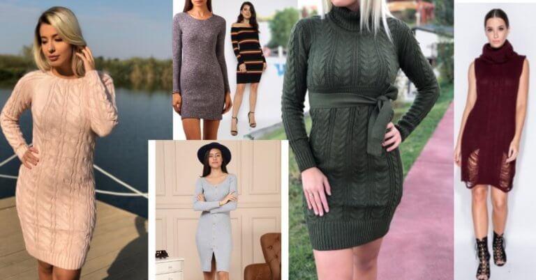 rochii-pulover ieftine