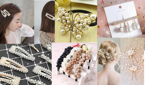 accesorii de păr cu perle