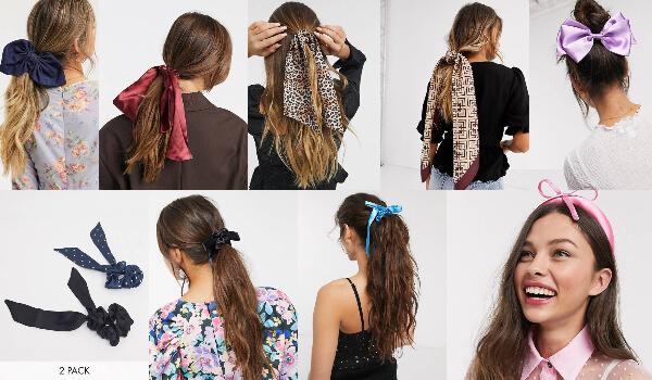 accesorii pentru păr cu fundiță și panglici