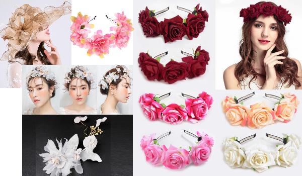 coronițe de flori și accesorii de păr cu flori