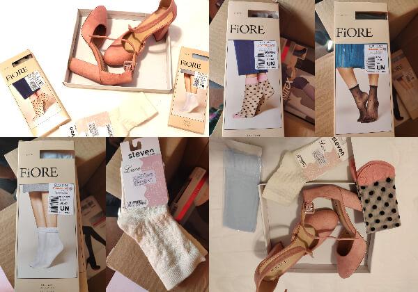 șosete din lycra cu model sau din dantelă elastică