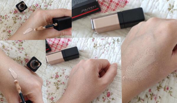 concealer Shiseido Synchro Skin Self-Refreshing review și păreri_swatch_nuanța Fair_TresClair103