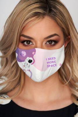 masca-de-protectie-pentru-femei-cu mesaj scris simpatic