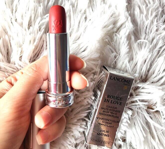 cum e rujul solid Lancome Rouge in Love nuanța Jolis Matin_106M_review