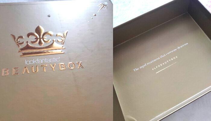 Royal Beauty Box de la Look Fantastic - ambalaj cutie