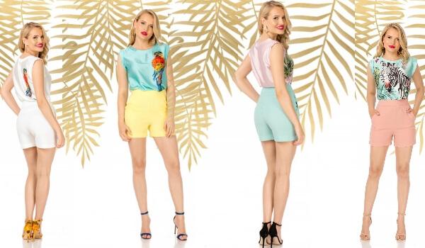 pantaloni eleganți minimaliști cu buzunare mărimi XXL femei plinuțe culori pastelate și albi