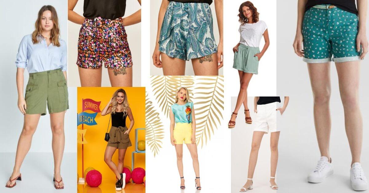 pantaloni scurți în mărimi mari pentru femei plinuțe