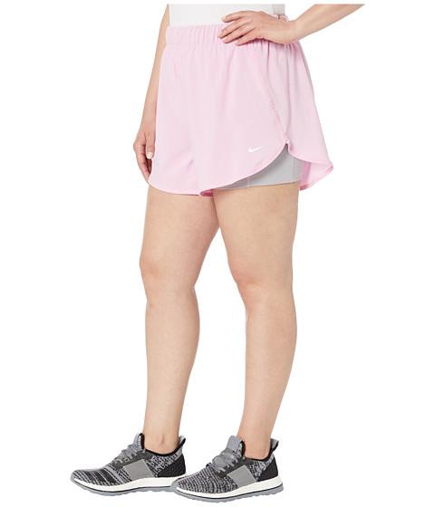 pantaloni scurți Nike Flex 2in1 sport de tenis în mărimi mari de femei plinuțe