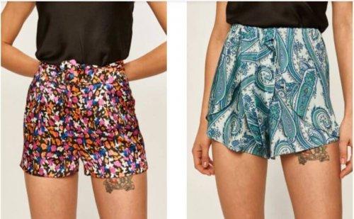 pantaloni scurți cu imprimeuri colorate de vară în mărimi mari penru femei cu forme