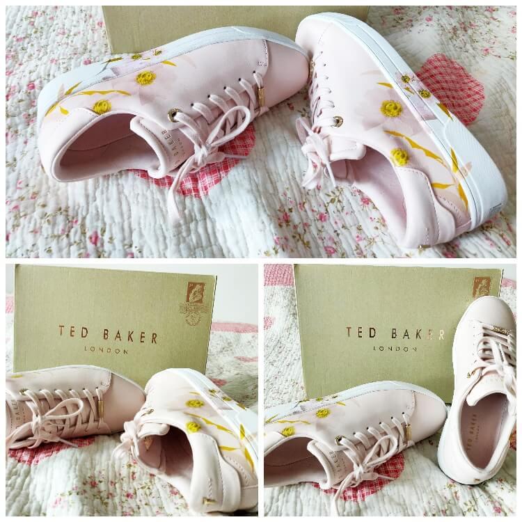 cum mi-am comandat pantofii sport cu imprimeu floral Ted Baker London