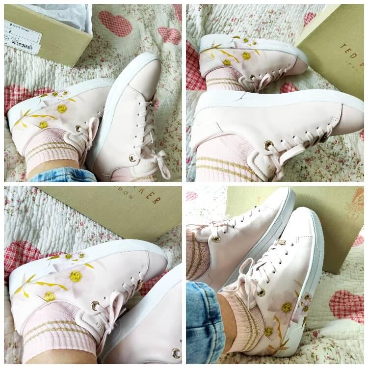 cum sunt pantofii sport cu imprimeu floral Ted Baker London