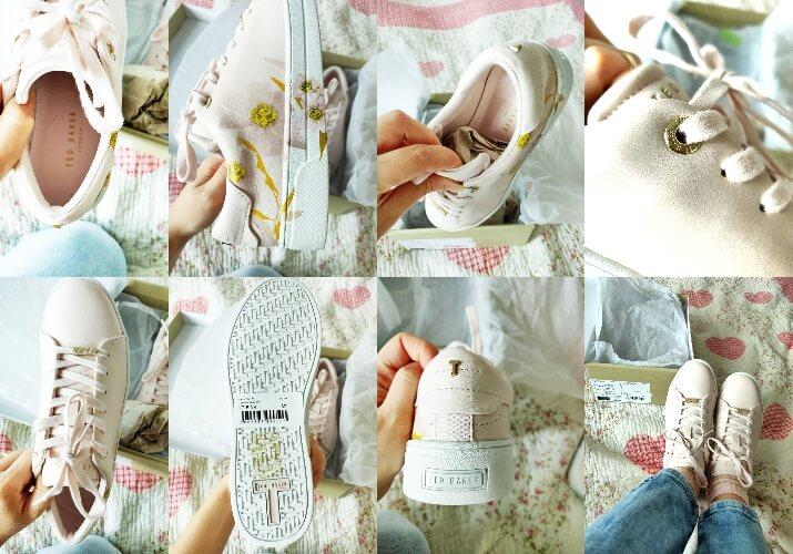detalii pantofi sport imprimeu floral Ted Baker London