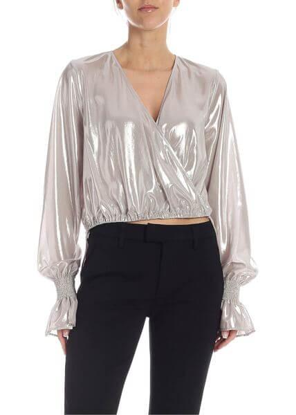bluză delicată argintie elegantă PINKO