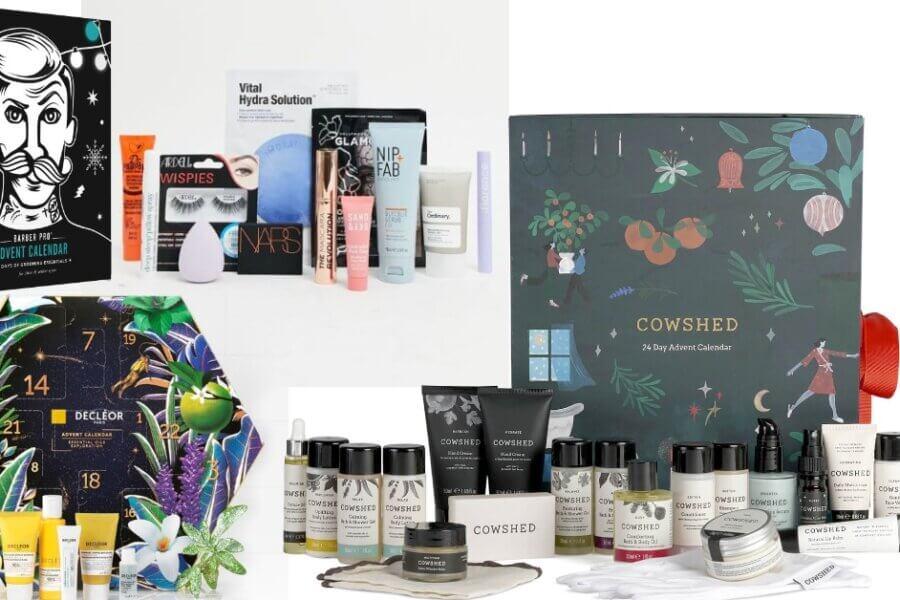 calendare de advent cu produse cosmetice de îngrijire a apielii pentru femei și pentru bărbați