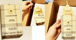 apă de parfum Touch by Burberry_design și ambalaj