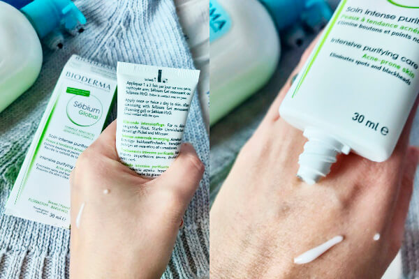 crema-tratament antiacnee Bioderma Sébium Global_textură