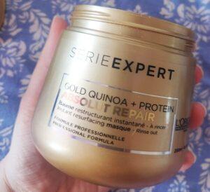 masca de păr L'Oréal Professionnel Serie Expert Absolut Repair Gold Quinoa + Protein_review și păreri