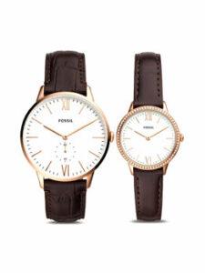 set de ceasuri pentru cuplu Fossil - ceas pentru femei și ceas pentru bărbați